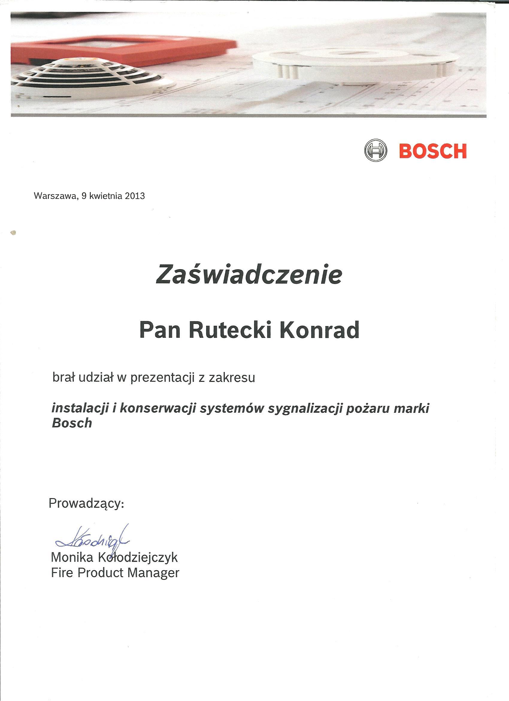 3.1 Certyfikat BOSH 001